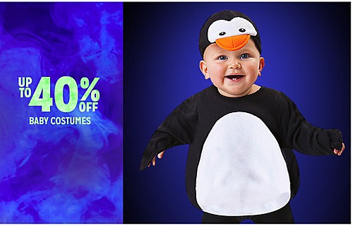 UP TO 40% OFF BABY COSTUMES
