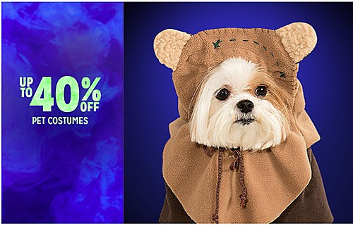 UP TO 40% OFF PET COSTUMES