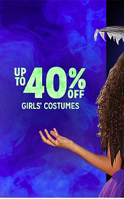 UP TO 40% OFF GIRLS' COSTUMES