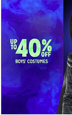 UP TO 40% OFF BOYS' COSTUMES