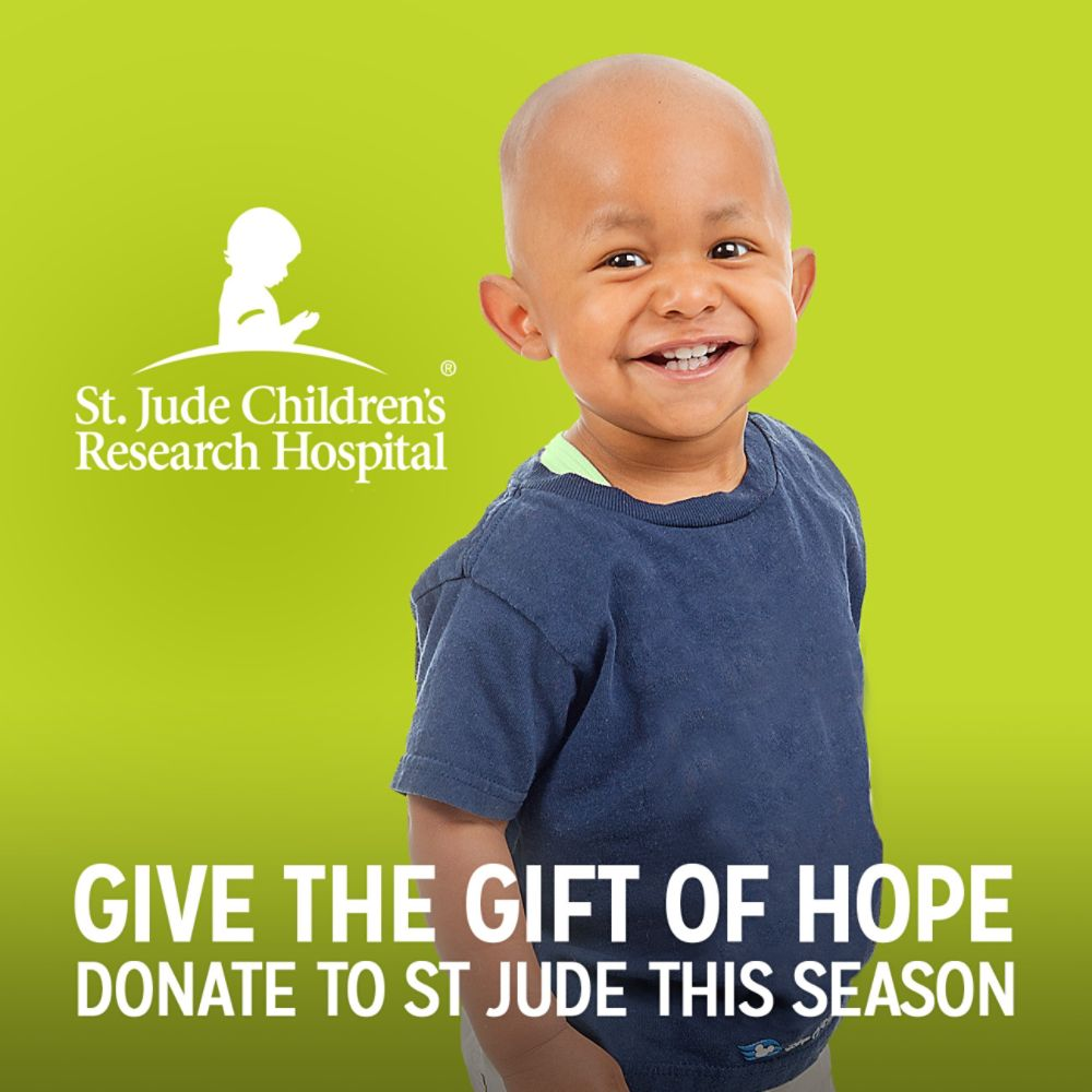 St. Jude Childrens Research Hospital | GIVE THE GIFT OF HOPE DONATE TO ST JUDE THIS SEASON