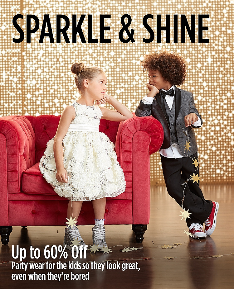 Up to 60% off dresswear for kids
