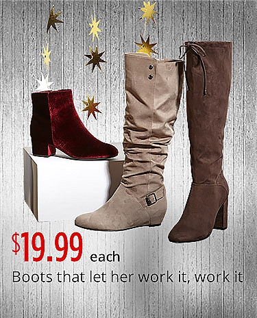 Women's Fashion Boots $19.99