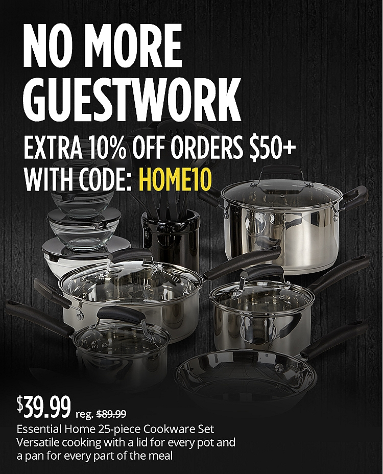 10% off home orders $50+ with code: HOME10