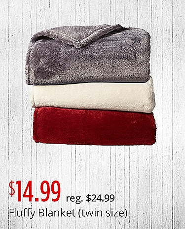 $14.99 Fluffy Blanket (twin size)