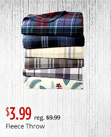 $3.99 each Fleece Throw