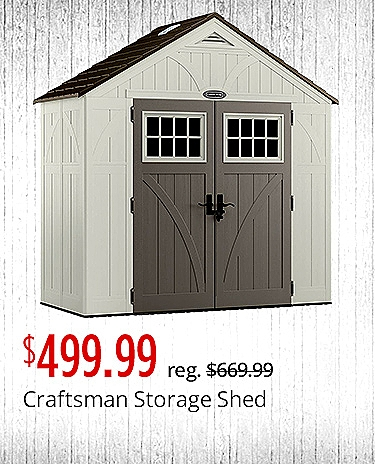 Craftsman Storage Shed $499.99