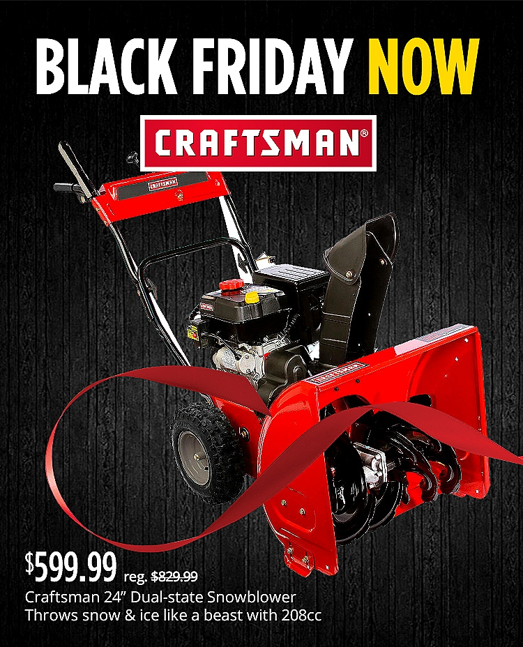 Craftsman Black Friday Now