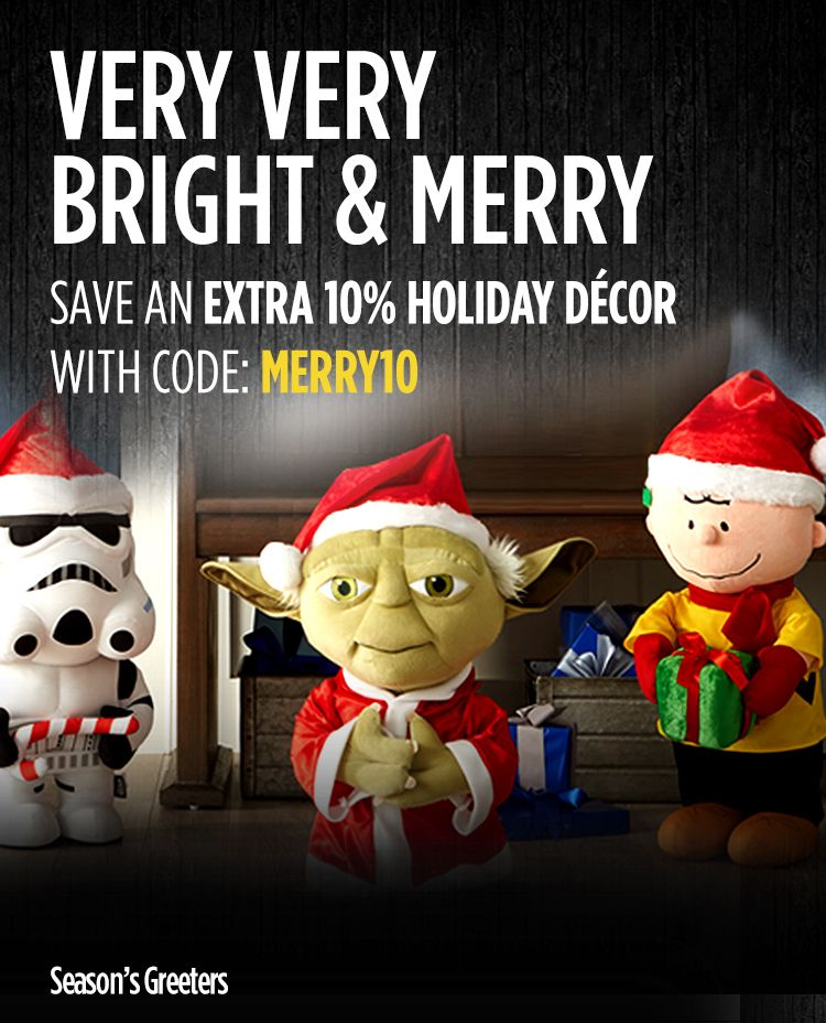 EXTRA 10% off Holiday Decor w/ Code: MERRY10