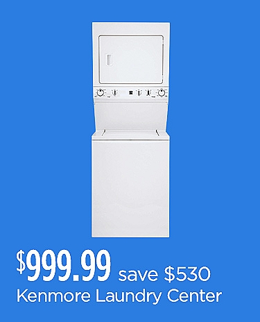 Kenmore High Efficiency Laundry Center $999.99