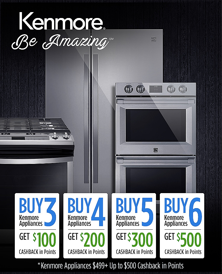 Kenmore Buy More Get CASHBACK in Points