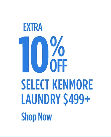 Extra 10% Off Select Kenmore Laundry
