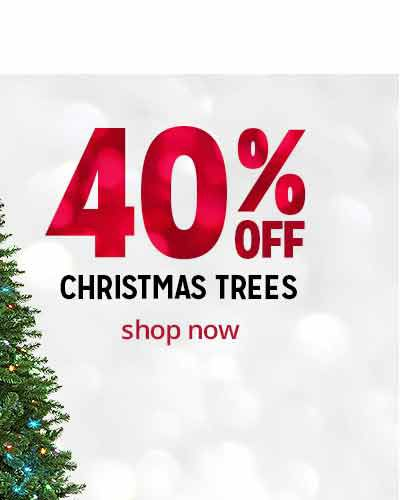 40% off Christmas trees | shop now