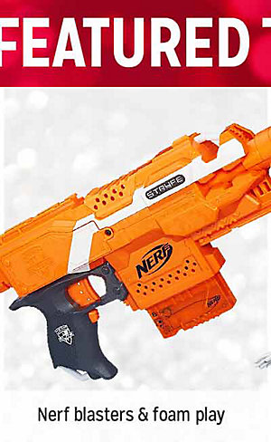 25% OFF FEATURED TOYS | Nerf blasters & foam play