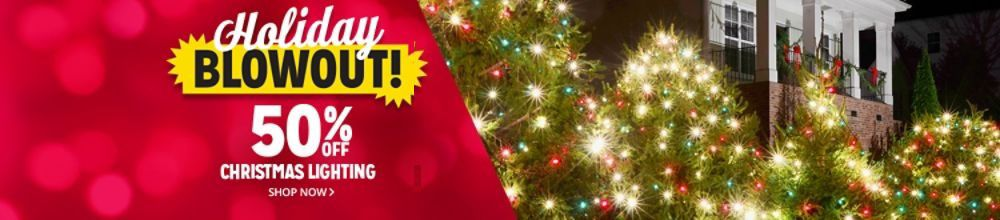 holiday blowout 50 off christmas lighting - Christmas Decorations Lights