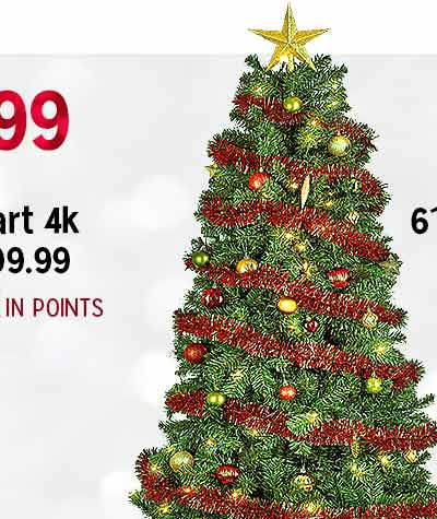 $49.99 6' pre-decorated American pine tree | reg. $99.99