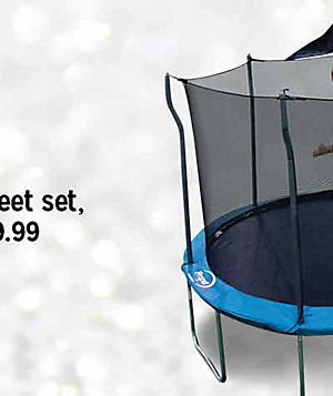 $149.99 Propel 12' trampoline with enclosure | reg. $349.99 | Plus, free Jump & Jam basketball hoop shop now