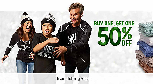 BUY ONE, GET ONE 50% OFF  | Team Clothing & Gear | shop now