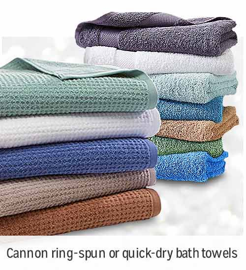 BUY ONE, GET ONE 50% OFF  | Cannon Ring Spun or Quick Dry bath towels | shop now