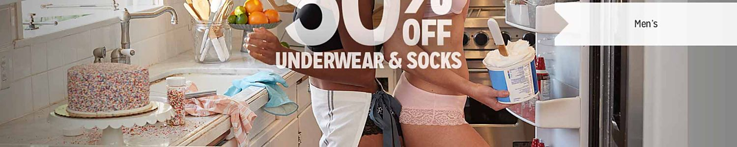 BUY ONE, GET ONE 50% OFF UNDERWEAR & SOCKS | Men's