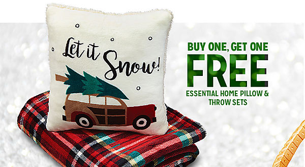 BUY ONE, GET ONE FREE ESSENTIAL HOME PILLOW & THROW SETS