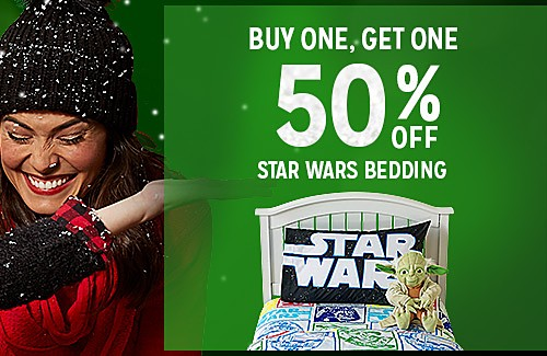 BUY ONE, GET ONE 50% OFF STAR WARS BEDDING