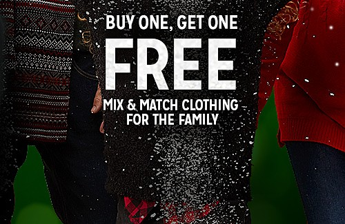 BUY ONE, GET ONE FREE MIX & MATCH CLOTHING FOR THE FAMILY