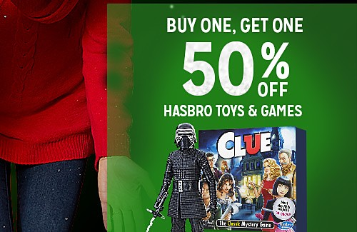BUY ONE, GET ONE 50% OFF FEATURED HASBRO TOYS & GAMES