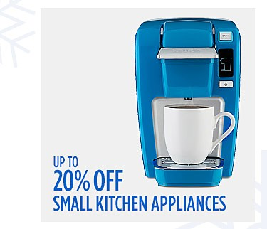 Up to 20% off Small Kitchen Appliances