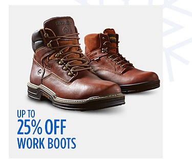 Up to 25% off Work Boots
