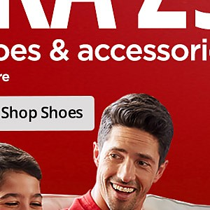Extra 25% off shoes with code: HOLIDAYS