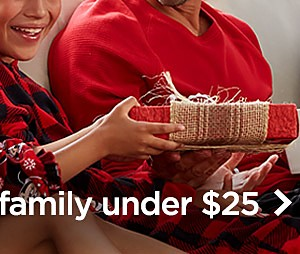 Pajamas for the family under $25