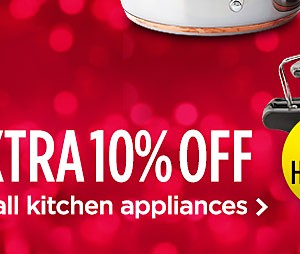 Extra 10% off small kitchen appliances