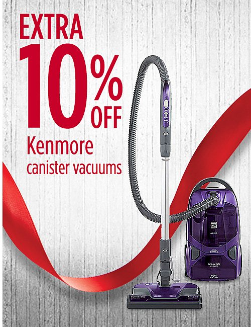 Extra 10% off Kenmore canister vacuums