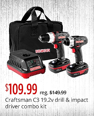 Craftsman C3 19.2V Drill and Impact Driver Combo Kit $109.99