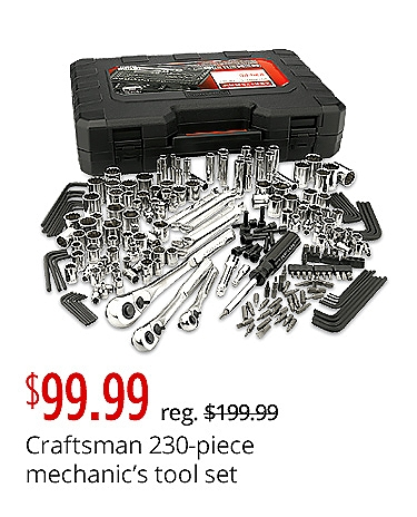 Craftsman 230-Piece Mechanic's Tool Set $99.99