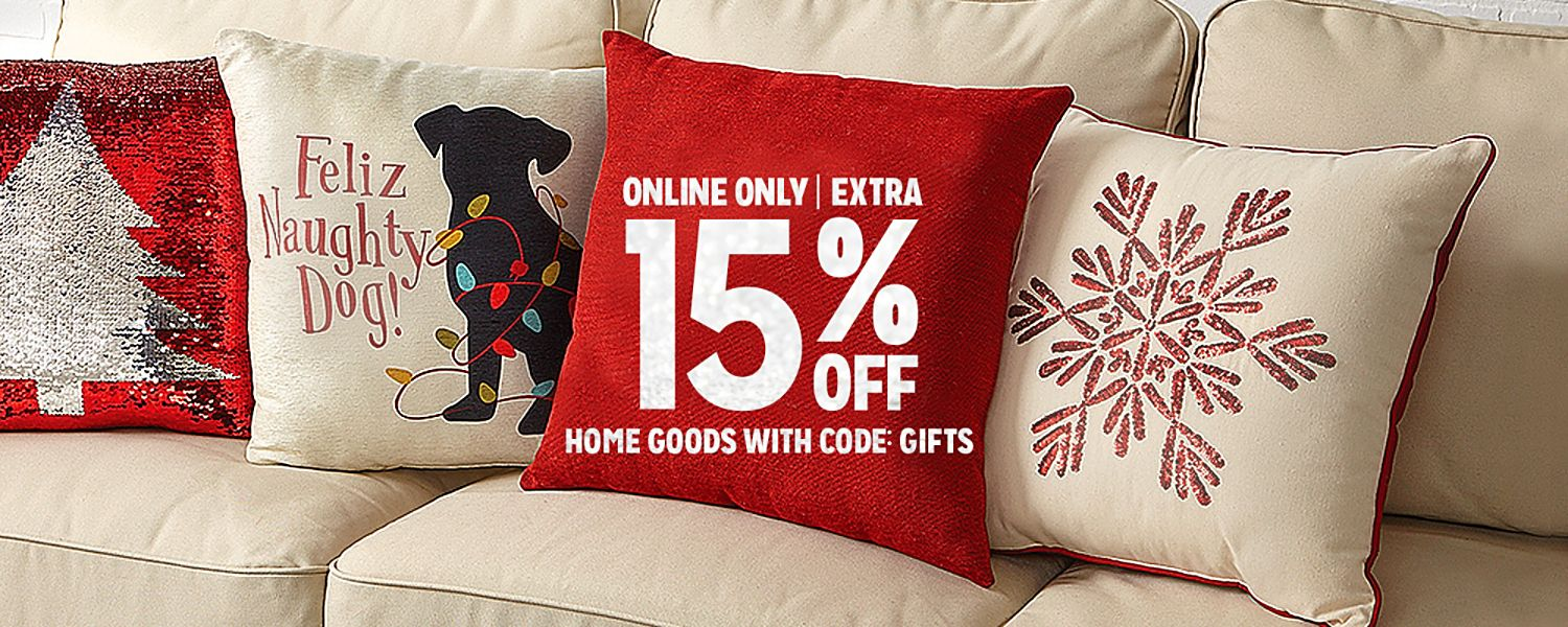ONLINE ONLY | EXTRA 15% OFF HOME WITH CODE: GIFTS