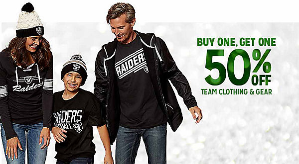 BUY ONE, GET ONE 50% OFF TEAM CLOTHING & GEAR