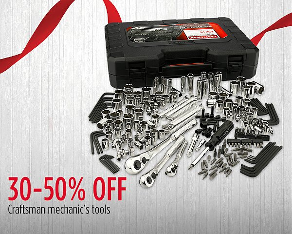 30-50% Off Craftsman Mechanics Tools