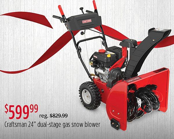 "$599.99 Craftsman 88173 24"" 208cc Dual-Stage Gas Snowblower"