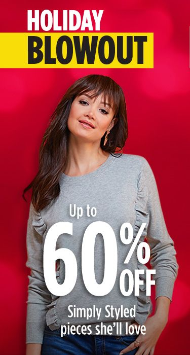 Up to 60% off Simply Styled pieces she'll love