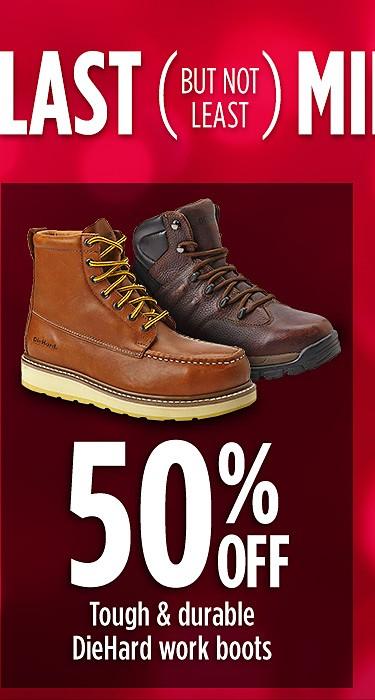 50% off DieHard work boots