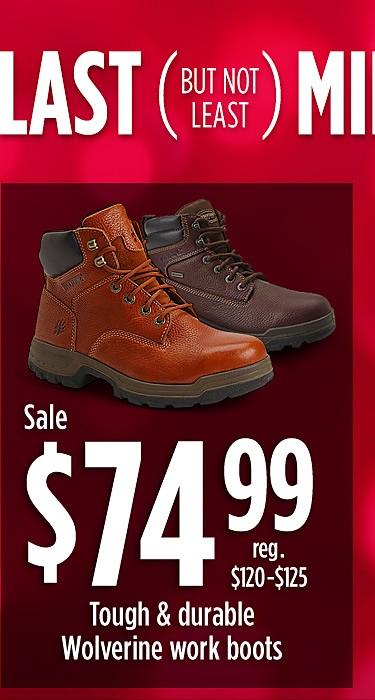Sale $74.99 Wolverine work boots (reg. $120 - $125)