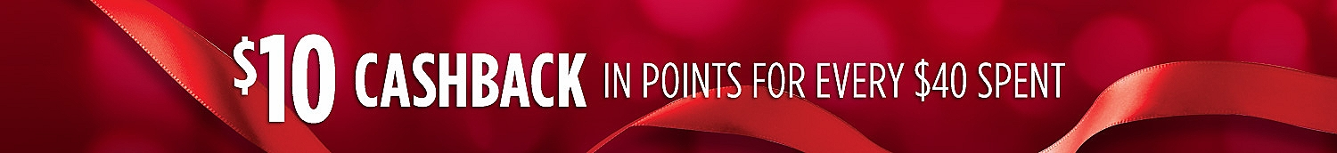 $10 CASHBACK in points for every $40 spent