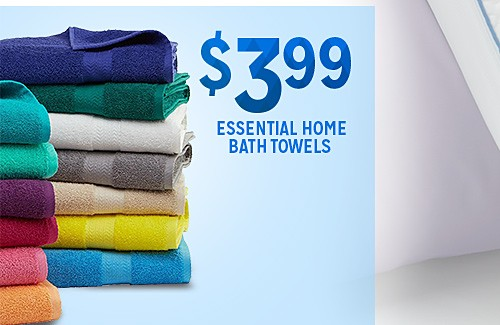 WHITE SALE | Essential Home Bath towels $3.99