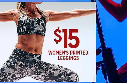 WORK IT OUT | $15 WOMEN'S PRINTED LEGGINGS