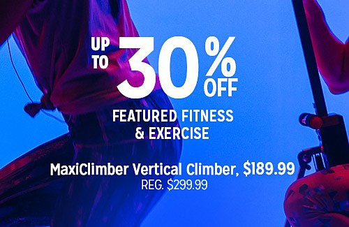 WORK IT OUT | 30% OFF FEATURED FITNESS & EXERCISE | MaxiClimber Vertical Cimber, $189.99 REG. $299.99