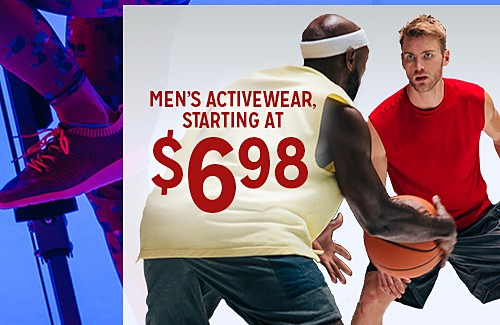 WORK IT OUT | MEN'S ACTIVEWEAR STARTING AT $6.98