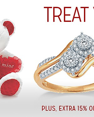 TREAT YOUR SWEETHEART | UP TO 75% OFF* FINE JEWELRY | PLUS EXTRA 15% OFF WITH CODE: SAVENOW