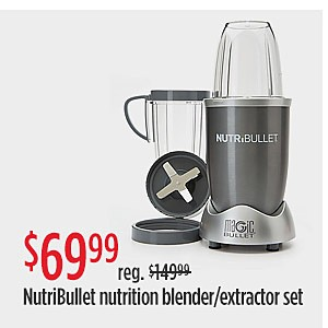 RED TAG EVENT | Sale $69.99 reg $119.99 NutriBullet 8-Piece Nutrition Blender/Extractor Set